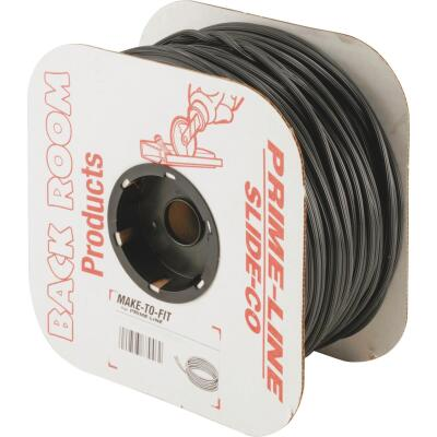 Prime-Line 0.165 In. Dia. x 500 Ft. L. Black Vinyl Screen Retainer Spline