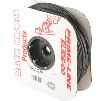 Prime-Line 0.165 In. Dia. x 250 Ft. L. Black Vinyl Screen Retainer Spline